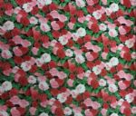 ROSE BUSH FLOWERS - Floral Fabric - Roses Material 100% Cotton - Price Per Metre